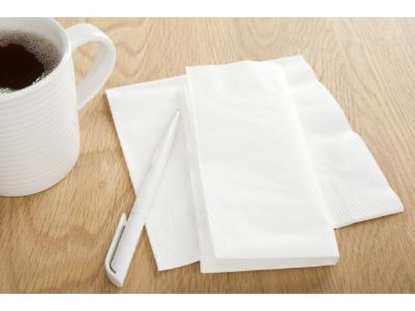 A cigarette filter is made out of the same material as paper napkins.