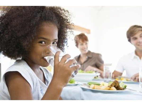 Each child is different, and a child's height and weight affect normal fluid intake levels.