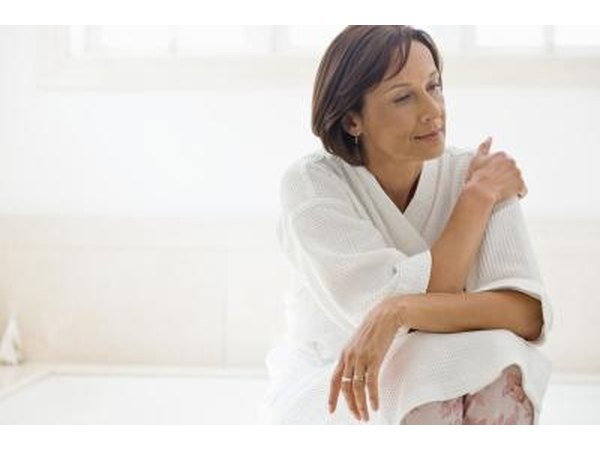 In older women, tender breasts can be one of the first signs of the onset of menopause.