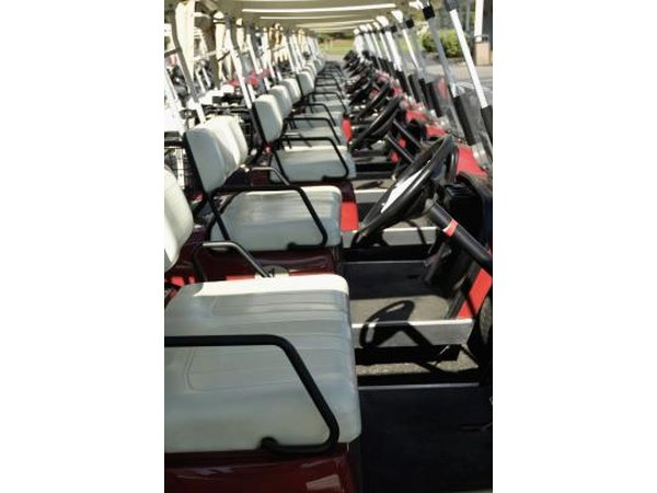 Empty golf cart seats