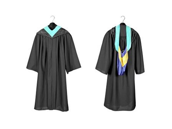 Wrap the stole around your shoulders so that the ends are hanging down the front of your robe