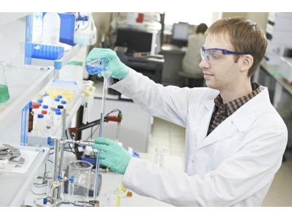 Neurobiologist working in lab