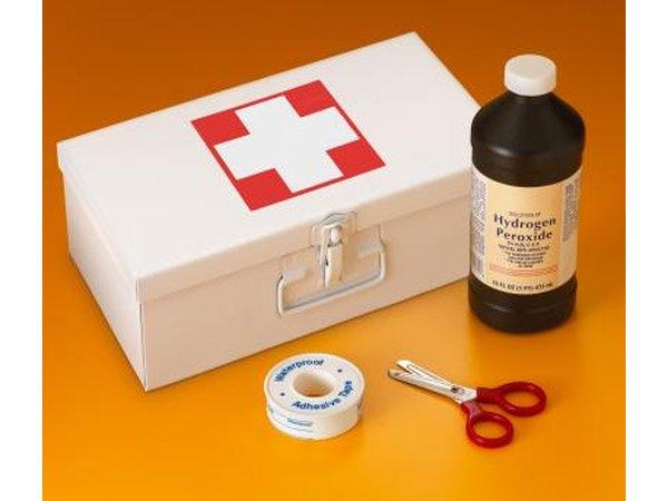 Hydrogen Peroxide is a common first aid kit item that can also be used with water to create a non toxic feminine wash.