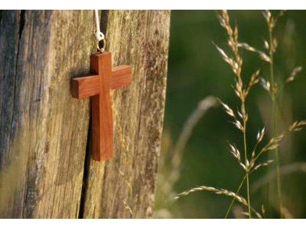 Crosses are an unmistakable Christian symbol.