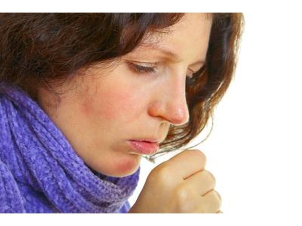 Coughing may be a symptom.