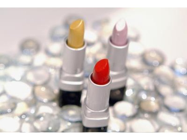 Red, pink and yellow lipstick.
