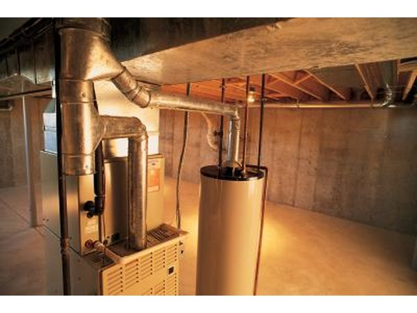 Furnace and hot water heater below home