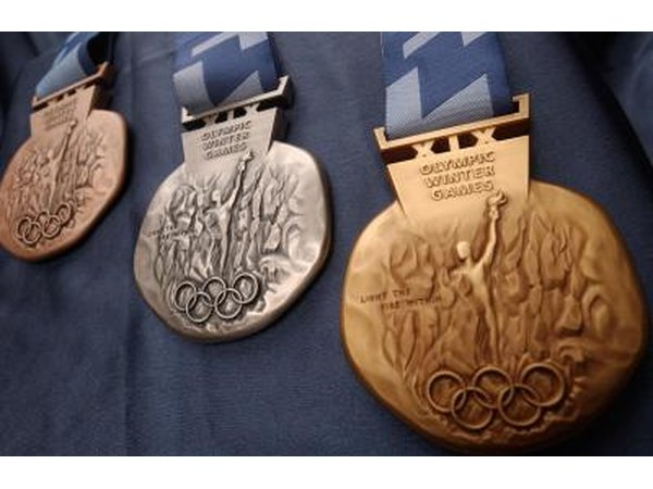 Olympic medals from the 2002 Winter Olympic Games in Salt Lake City, UT.