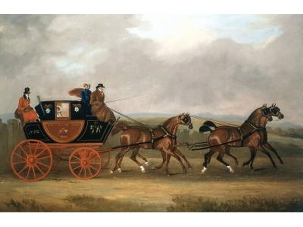 Painting of horse and cart form England.