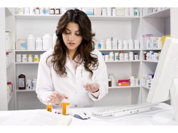 Pharmacist preparing antibiotics
