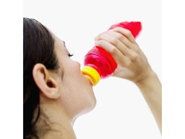 Woman drinking sports drink