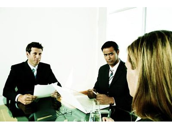 Ask questions during an interview.