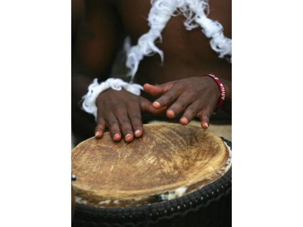 African drums are often used in ceremonies.