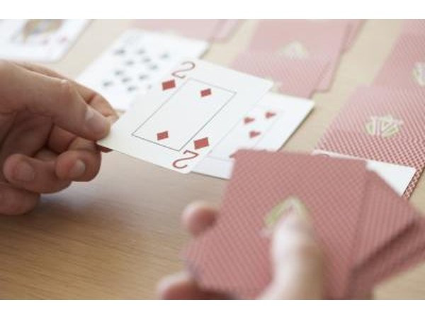 "Games could consist of basic card games, such as ""Old Maid"" or ""Go Fish."""