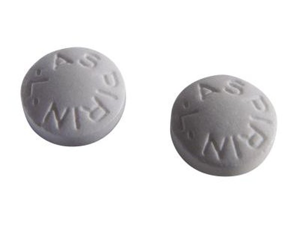 Aspirin tablets.