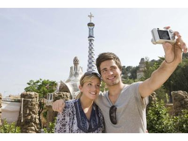 Couple take a photography on vacation