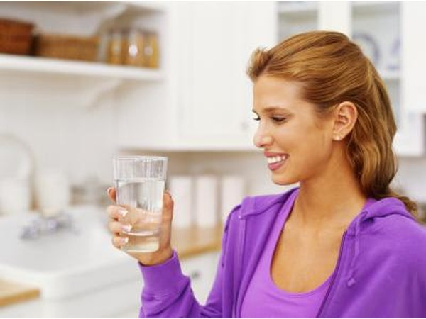 Drink water to eliminate toxins.
