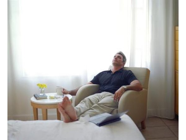Man resting in room