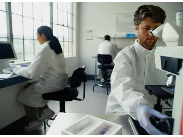Biologists working in health care