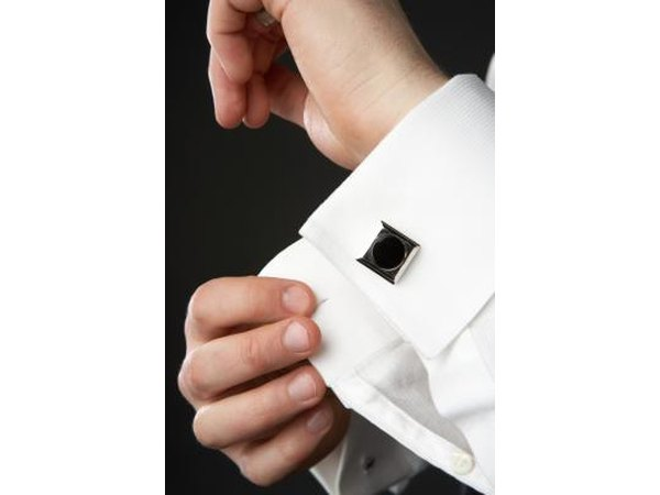 Buy him black pearl cuff links.