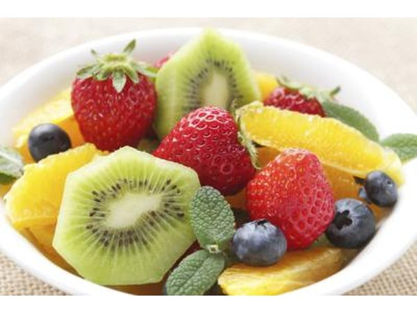 Fresh, assorted fruit in bowl