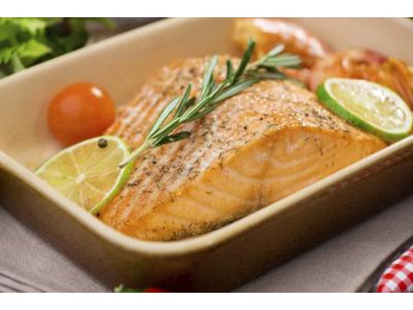 Roasted salmon filet