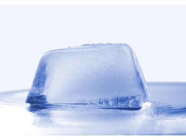 Ice cube for cooling rash area