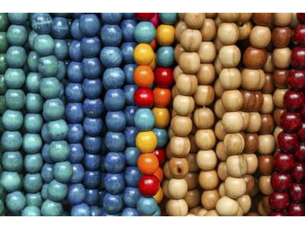 Large and colorful beads symbolize wealth and social status.