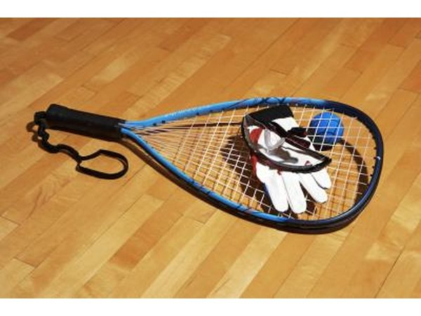 Racquetball racket and balls