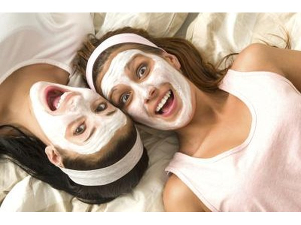 teenage girls in face masks