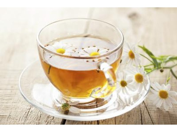 Chamomile tea has a calming effect.