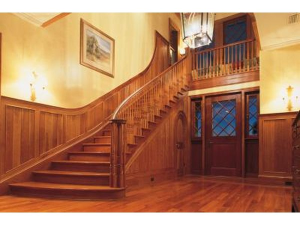 Beautiful hardwood floor and staircase.