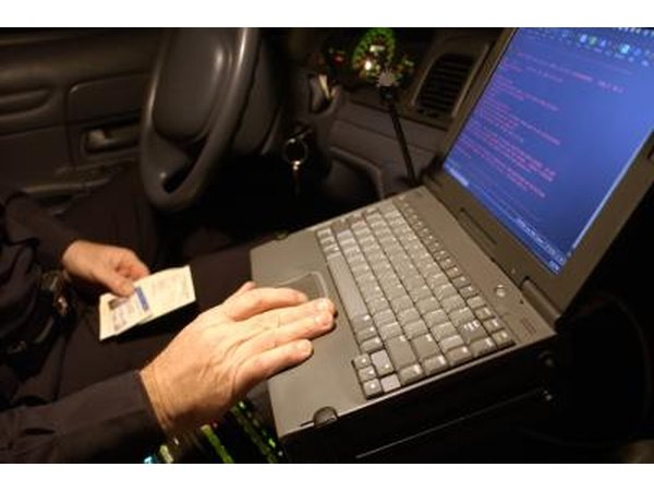 Police officers can discover vehicle and registration information upon their initial search.