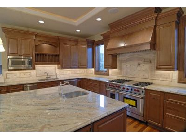 Granite countertops in a modern kitchen