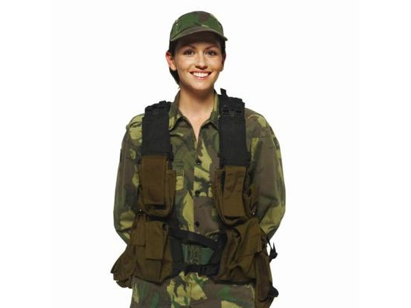 Military woman.