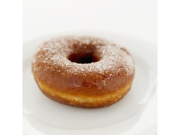 A sugar coated donut.