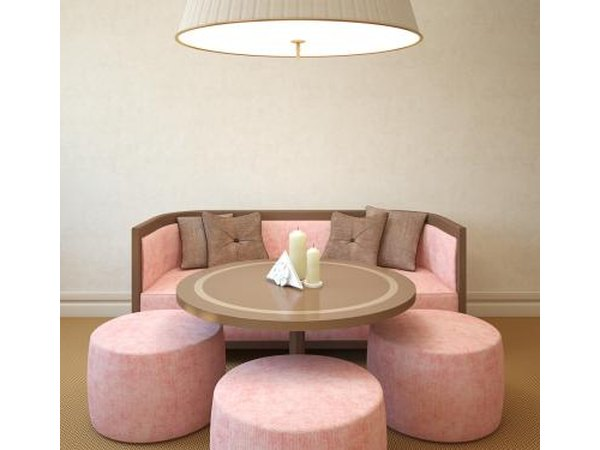 Pink and Taupe furniture.