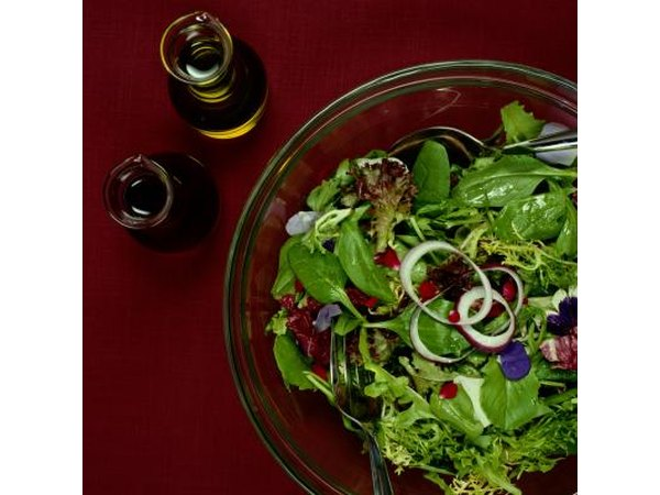 Balsamic, olive oil and salad
