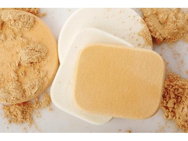 Make up sponges and powder.