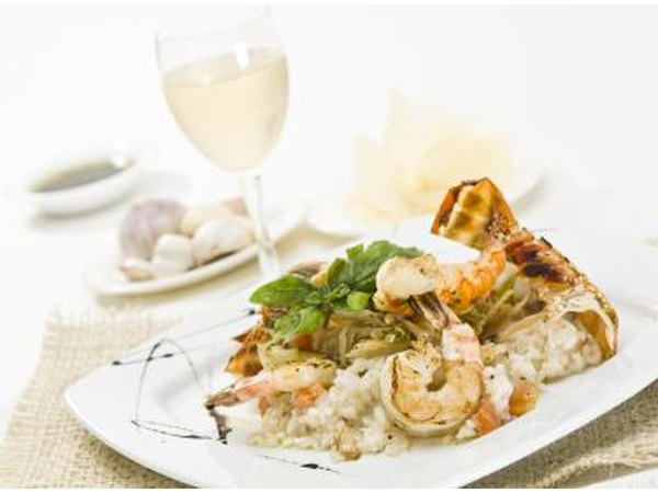 Lobster and shrimp risotto dinner