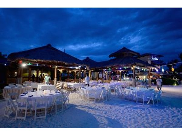 Night beach party on Grand Exuma, Bahamas