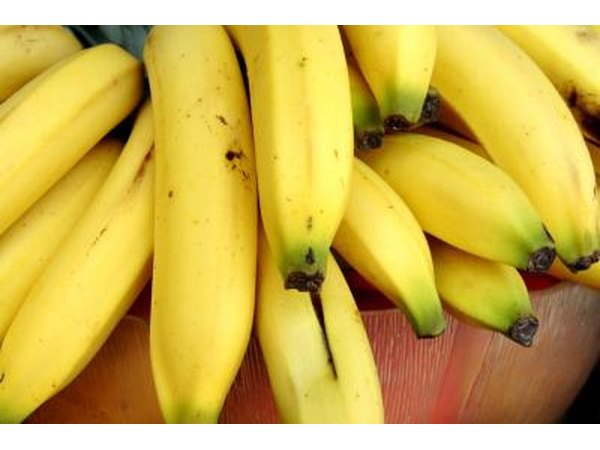 Bananas are a good source of calcium.