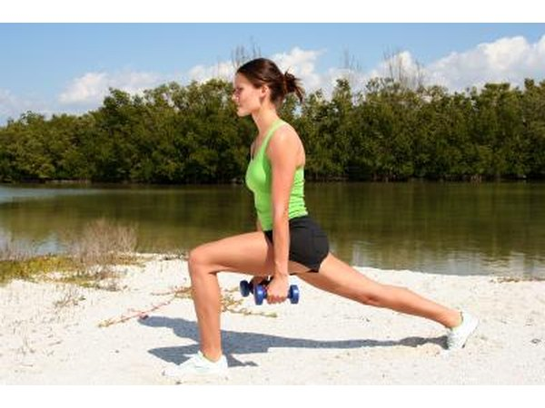 Lunges are a great leg workout.