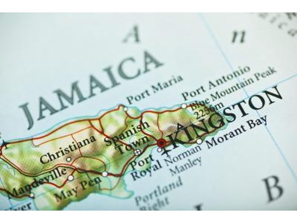 Map of Jamaica