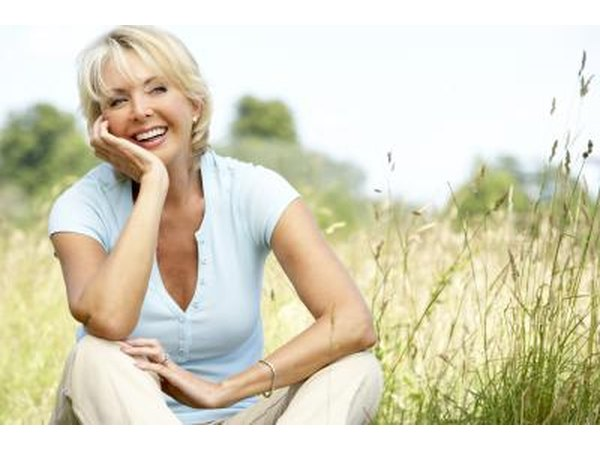 By menopause a woman has significantly less estrogen.