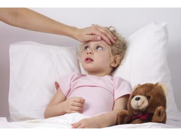 Yound children with a cold may often run a fever as well.