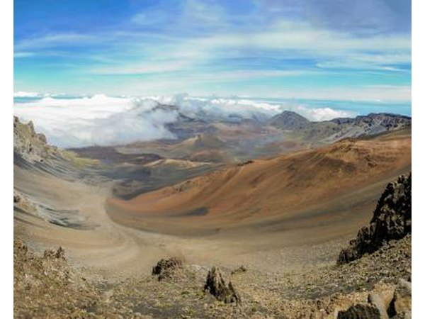 Haleakala Crater in Maui.