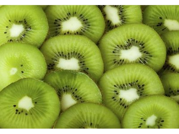 Close-up of sliced kiwi.