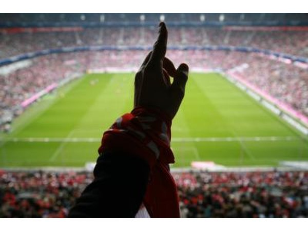 Hand cheering at sporting event