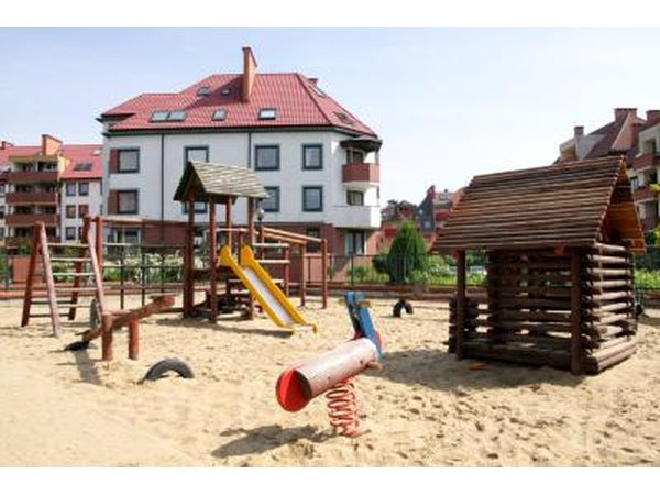 Playground built on sand